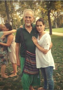 Cristina Ingrid e Isaac David Garuda en el Parque de Retiro, Madrid, 2014